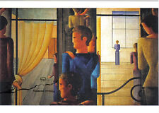 Arte tarjeta postal-Oskar Schlemmer: zwölfergruppe con interiores