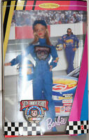 Nascar Barbie Doll Collectibles 50th Anniversary Edition New In Box