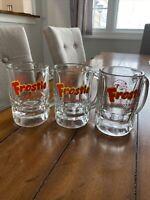 "1960s Vintage Frostie Root Beer Glass Mugs Soda Hazel Atlas RARE Advertising 5"""