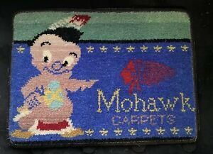 VINTAGE ADVERTISING DISPLAY SALESMAN'S SAMPLE MOHAWK CARPET TRADEMARK SWATCH