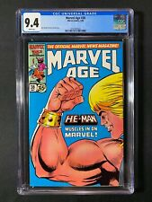 Marvel Age #38 CGC 9.4 (1986) - He-Man muscles in on Marvel!