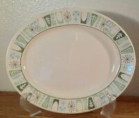 """Vintage Taylor Smith Taylorstone Cathay MCM Atomic Oval Serving Platter, 13 5/8"""""""