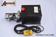3215S Hydraulic Power Unit, Hydraulic pump, Single acting 12V 15Qt,Dump Trailer
