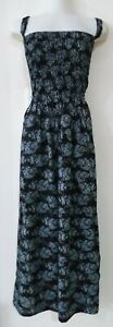 1K62238  LADIES MAXI SHIRRED SUMMER DRESS plus size 32 34  36  38  NEW WITH TAGS