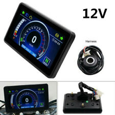 12V Motorcycle LCD Speedometer Tachometer Odometer+Harness+Nuocheng Speed Sensor