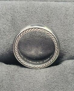 DAVID YURMAN Men's Streamline 925 Silver Titanium Ring 6mm Size 9