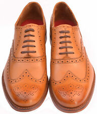 Gentleman's Classic Wing Tip Oxford Brogue Grenson Dylan Tan UK Size 10 F Fit