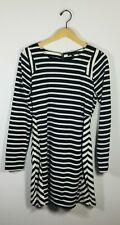 LUCCA COUTURE NWT Black & Ivory Long Sleeve Cotton Mini Dress Size Large