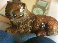 "Goebel 6.5"" L Brown Cat w/Green Eyes, No. 3T 037 09"