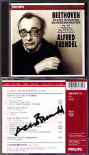 Alfred Brendel signée Beethoven piano Sonaten 21 22 28 Waldstein autograph cd