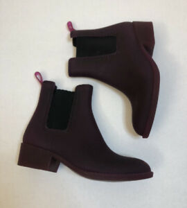 Jeffrey Campbell Size 8 'Stormy' Rain Boots Burgundy Booties