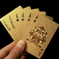New Foil Plated Poker Playing Cards Traditional Set With Black Box Free Hot OJ