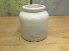 1930's Vintage French Stoneware LAB Lagny Mustard Crock, Old Oval Mark