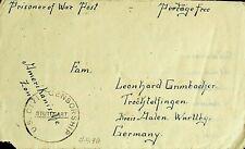 Middle East 1946 Postage Free Prisoner Of War Us Civil Censor Cover To Germany