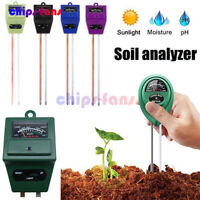 3 IN 1 Digital Soil Tester Moisture Sunlight PH Meter For Garden Plants Tools