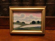 More details for vintage porsgrund norway ceramic miniature  framed tile picture