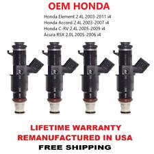 4pcs OEM HONDA Fuel Injectors For 2003-2004-2005-2006-2007 Honda Accord 2.4L  i4