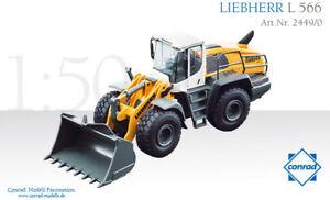 Conrad 2449 Liebherr L556 Wheel Loader 1/50 Die-cast MIB