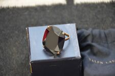 Ralph Lauren Women's Fashion Jewelry Black Crystal Cocktail Ring Size 6