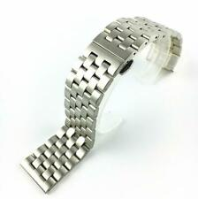 Stainless Steel Butterfly Buckle Double Polished Clasp Link Watch Band Strap