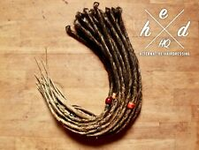 30 x OMBRE CHOCOLATE HONEY HANDMADE SYNTHETIC SINGLE ENDED DREADLOCKS DREADS