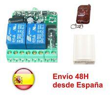 Emisor + Receptor 12-24VDC con 2 canales a 433 Mhz.