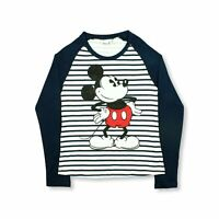 DISNEY Ladies Womens Mickey Mouse T Shirts Character Tops Long Sleeve Size 6-20