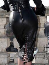 Lederrock Leder Rock Schwarz Geschnürt Maßanfertigung