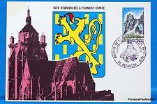 REUNION DE LA FRANCHE COMTE    FRANCE  Carte Postale Maximum FDC Yt C 2015