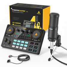 Maono AU-AM200-S1 ALL-IN-ONE Podcast Production Studio with Microphone DJ MIXER