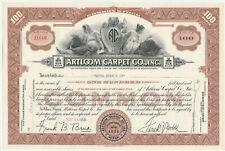 1958 Artloom Carpet Co., Inc. Stock Certificate Pennsylvania