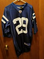 VINTAGE REEBOK INDIANAPOLIS COLTS #29 ADDAI NFL JERSEY - SIZE LARGE