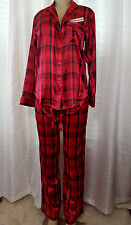 SMALL   Victorias Secret Afterhours Red Satin  Sleep Pajama SET