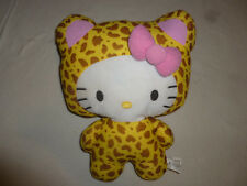 "13"" HELLO KITTY LEOPARD CAT CHEETAH COSTUME PLUSH SANRIO ANIME STUFFED ANIMAL >>"