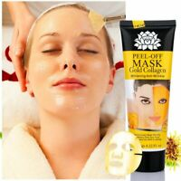 24K Gold Collagen Mask Anti Wrinkle Cleansing Peel Off Facial Deep Pore Cleaning
