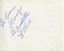 BERNADETTE WITHERS ACTRESS / BACHELOR FATHER & WAGON TRAIN SIGNED PAGE AUTOGRAPH
