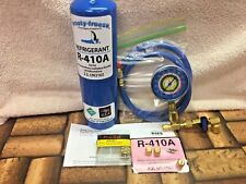 410A, R410a, R-410a, Refrigerant Refill Kit Gauge Charging Hose & Instructions