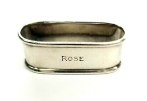 Tiffany & Co Makers Sterling Silver Antique Napkin Ring/Holder -ROSE monogram