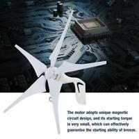 600W 12/24v Generador de Viento Aerogenerador Turbina 5 Palas para hogar/camping