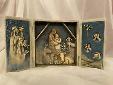 Willow Tree Starry Night Nativity, Sculpted Hand-Painted Nativity Triptych