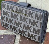 Michael Kors Jet Set Travel  MK Signature Card Case Carryall Mini Bifold Wallet