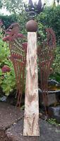 XL Engel 63 cm Holz Edelrost Flügel Landhaus Weihnachten Winter Brocante
