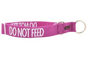 Wide Dog Collar Large XXL Color Coded DO NOT FEED Awareness Nylon High Strength