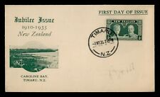 DR WHO 1935 NEW ZEALAND TIMARU SILVER JUBILEE FDC C176619