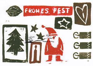 Kunstkarte: HenNe - Frohes Fest / Weihnachten  Herz