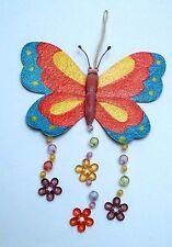 magnifique papillon mural avec perles, décoration intérieure, enfant G-T5
