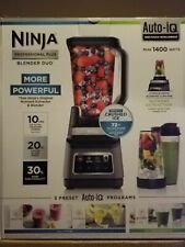 Ninja Professional Plus Blender DUO with Auto-iQ 1400 W BN751 Black/Silver New