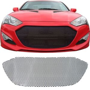 CCG GLOSS BLACK PERF GT MESH GRILL FOR 2013 - 2016 HYUNDAI GENESIS COUPE GRILLE