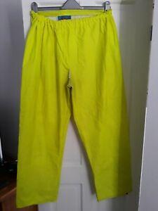 Flexothane B Dri Sioen XXL Yellow Waterproof Leggings Well Used workmans gear