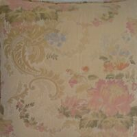 A 16 Inch Cushion Cover In Laura Ashley Bespoke Gold Fabric